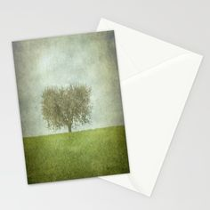 The Lone Olive Tree Stationery Cards by ARTsKRATCHES | Society6