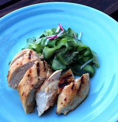 Eat, Fast and Live Longer. A 5-2 Fast Diet Recipe Idea Under 300 Calories. Grilled Spiced Yoghurt Chicken With Cucumber Salad.