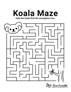 Activity Sheets For Kids, Coloring Sheets For Kids, Animal Coloring Pages, Kids Coloring, Colouring, Mazes For Kids Printable, Worksheets For Kids, Free Printable, Kids Mazes