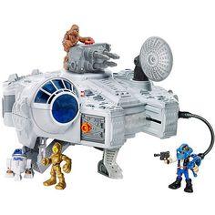 $29 Star Wars Playskool Heroes Jedi Force Millennium Falcon with Han Solo & Chewbacca