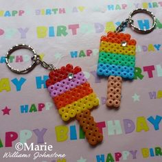 How to Make a Perler Hama Fused Bead Keychain Tutorial
