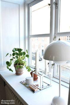 white, window sill, window inspiration, decorations