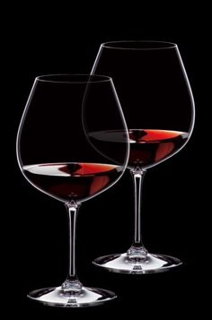Red Burgundy wine glasses. #wine