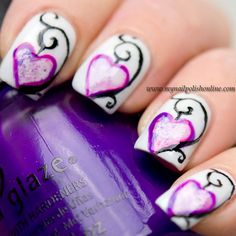 Valentine's Day Nail Art Contest, Nail Art Sunday and February Nail Art Challenge