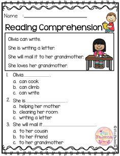 May reading comprehension is suitable for kindergarten students or beginnin Reading Comprehension Worksheets, Reading Fluency, Reading Passages, Picture Comprehension, Subtraction Kindergarten, Kindergarten Reading, Kindergarten Worksheets, First Grade Worksheets, Fifth Grade