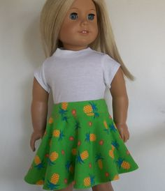 Hey, I found this really awesome Etsy listing at https://www.etsy.com/listing/266828220/18-inch-doll-clothes-green-skater-skirt