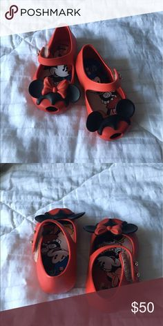 Mini Melissa toddler Disney edition Worn only a couple times like new Mini Melissa Shoes Sneakers