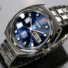 Rado Musketeer IV Mens Day/Date AUTOMATIC Blue Dial 25 JEWELS SWISS MADE Watch