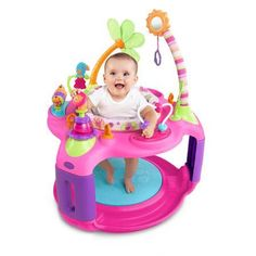 Baby Plays Bright Starts Sweet Safari Bounce-A-Round Entertainer - Developmental Baby Toys