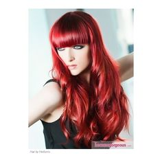 On fire! or put it out! Firey Red hair! ❤ liked on Polyvore featuring hair, models, hairstyles, people and pictures