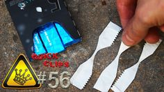 Make your own fire starter with an AA battery and a gum wrapper. Cool!