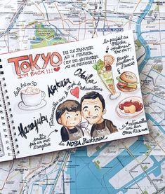 Journal voyage illustré Japon Tokyo hiver 2018 www.tokyobanhbao.com Travel Journal Scrapbook, Bullet Journal Travel, Bullet Journal Writing, Bullet Journal Inspiration, Travel Journals, Voyage Sketchbook, Travel Sketchbook, Album Journal, Japon Tokyo