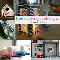 68 Uses for Scrapbook Paper Recycled Paper Crafts, 12x12 Scrapbook Paper, Canister Sets, New Crafts, Craft Projects, Craft Ideas, Recycling, Creative, Cards