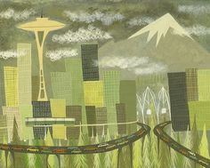 Seattle by Matte Stephens. Really would love to have one of Portland, OR.