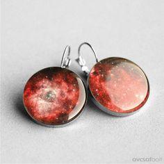 Dangle earrings, Stardust, Nebula, Space earring, French clip earring, Universe Leverback earring by myBeltBuckle on Etsy https://www.etsy.com/listing/127942863/dangle-earrings-stardust-nebula-space
