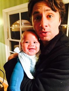 Zach Braff Is The Godfather To Donald Faison's Son. I love this