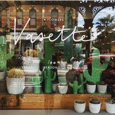 "FLOWERS VASETTE, Melbourne, Australia, ""The Cacti"", photo by The Windowshopper, pinned by Ton van der Veer"