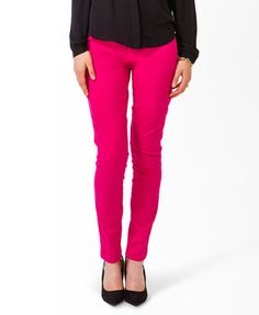 Life In Progress™ Zippered Pocket Colored Skinnies | FOREVER21 - 2030285404