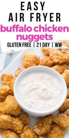 My kids go crazy over these easy Air Fryer Krispie Chicken Tenders! They are gluten-free, dairy-free, 21 Day Fix Approved, and only 2 Weight Watchers FS points per serving. Chicken Nuggets, Fried Chicken, Chicken Balls, Air Fry Recipes, Weight Watchers Chicken, Buffalo Chicken, Gluten Free Recipes, Dairy Free, Chicken Recipes