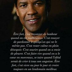 To be strong. Positive Mind, Positive Attitude, Sois Fort, Proverbs Quotes, Quote Citation, French Quotes, Positive Affirmations, Quotations, Sentences