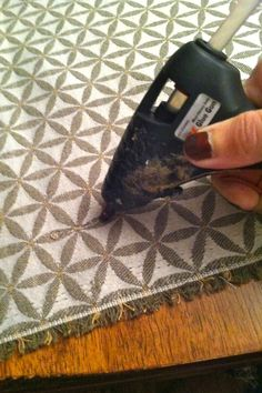 DIY Why Spend More: No sew pillow covers using hot glue