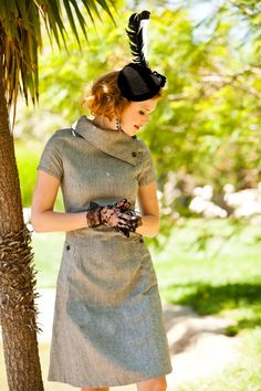 Wool A-Line Panthera Dress from the Zoology Collection by Shabby Apple