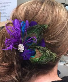 Check out this item in my Etsy shop https://www.etsy.com/listing/264439684/wedding-peacock-bridal-fascinator