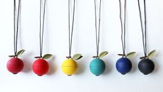 Each necklace is handmade with sturdy polymer clay. The cord strap measures approximately 34 in length and the container part 2 in diameter. Handmade Accessories, Handmade Necklaces, Cord, Polymer Clay, Bubbles, Rocks, Ships, Container, Etsy Shop