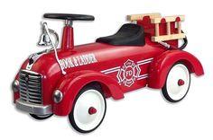 Kjøp Image Toys Gåbil i Metall Brannbil Rød | Leker Gåbiler & Trampekjøretøy | Jollyroom
