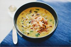 SPICED LENTIL SOUP WITH COCONUT MILK from Sprouted Kitchen