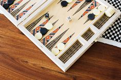 Alexandria Birch Backgammon Set