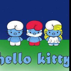 Hello Kitty: Smurfs