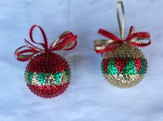 Sequin Christmas ball by gwenbored on Etsy