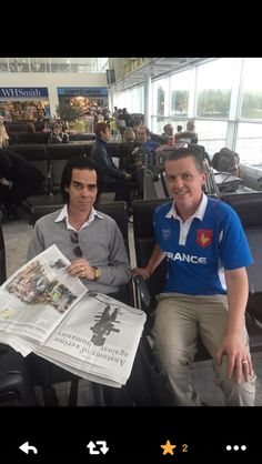 Nick Cave and fan! October 2015.
