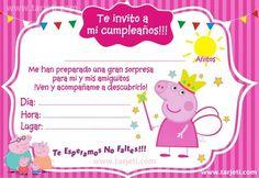angel y maria Pig Birthday Cakes, 3rd Birthday, Invitacion Peppa Pig, Peppa Pig Invitations, Aniversario Peppa Pig, Pig Party, Birthdays, Baby Shower, Visa
