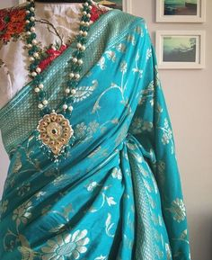 Blue Saree at the whole sale price Dress Indian Style, Indian Dresses, Indian Outfits, Modern Saree, Blue Saree, Stylish Sarees, Elegant Saree, Fancy Sarees, Saree Dress
