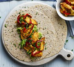 Pan-fry lean chicken breast with lime, chilli and garlic, then pile onto seeded tortilla wraps. Cool before assembling if packing for lunch