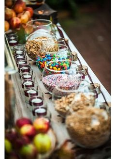 A Sundae Bar: Making your own ice cream bar is easy to do and a fun activity for both adults and kids.  Source: Instagram user theinteriorqueen