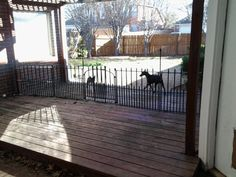 Superb We Installed This Temporary Fence In About An Hour. We Were Able To Get All  The Parts At Our Local Home Depot. Now We Have Split Our Patio So We Can  Have ...