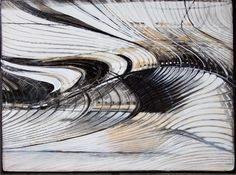 """PARVIN ZABETIAN """"Sonata for Piano"""" Charcoal and Acrylic on Canvas 30"""" x 40"""""""