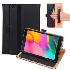 Case For Samsung Tab A 8.0 2019 Smart Cover Funda Tablet Hand Holder For Samsung SM-T290 T295 T297 Flip Stand Shell+Film+Pen Samsung Tabs, Bookcase, Shells, Cases, Wallet, Film, Conch Shells, Movie, Film Stock
