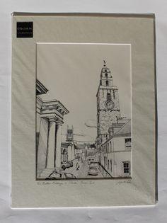 The Butter Exchange and Shandon Tower Cork Irish Art, Art For Sale, Dublin, Cork, Tower, Butter, Sketch, Framed Prints, Drawings