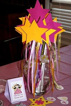 make your own princess wand station @ princess party