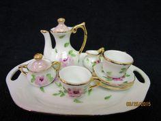 Tea Set  Miniature Mini Doll Handmade Set by PorcelainChinaArt