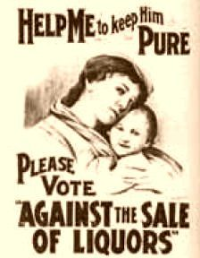 This is a prohibition poster encouraging people to vote for prohibition. In the prohibition was put in effect in Canada. this led to higher crime rates and smuggling of booze.