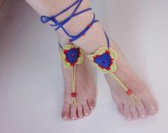 Pies descalzos sandalias pies joyas playa-boda por TheYanisCraft