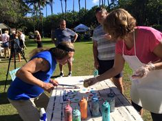 PaintFling private and public paint n sip paint nite party Oahu Hawaii Picnic Blanket, Outdoor Blanket, Paint And Sip, The Masterpiece, Drawing Skills, Oahu Hawaii, Easy Paintings, Paint Party, Public