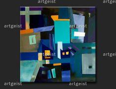 Figuras geométricas en el cuadro ¨Suprematismo azul