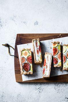 Ginger Fig Tart with Chestnut-Almond Crust {vegan & gluten-free} Gluten Free Crust, Vegan Gluten Free, Gluten Free Desserts, Vegan Desserts, Fig Tart, Vegan Tarts, Bojon Gourmet, Fresh Figs, Cashew Cream
