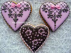 Пряники на 14 февраля, печенье на 14 февраля сердечки -  валентинки